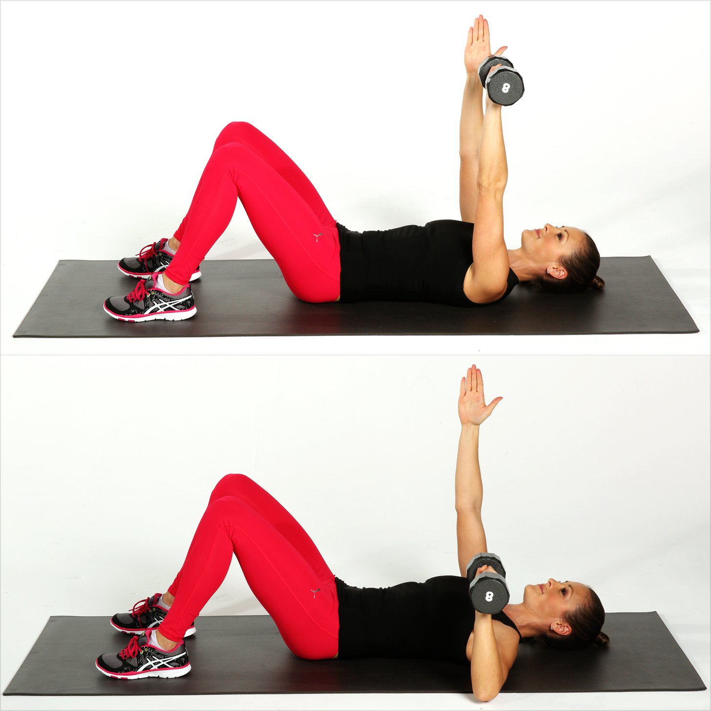 Arms And Abs Circuit Workout Sweet Strong Cardio Legs Single Arm Chest Press