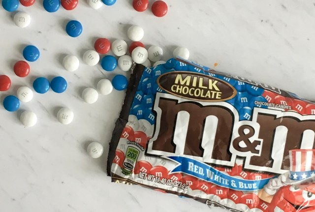 Red, White, and Blue, Milk Chocolate M&M's