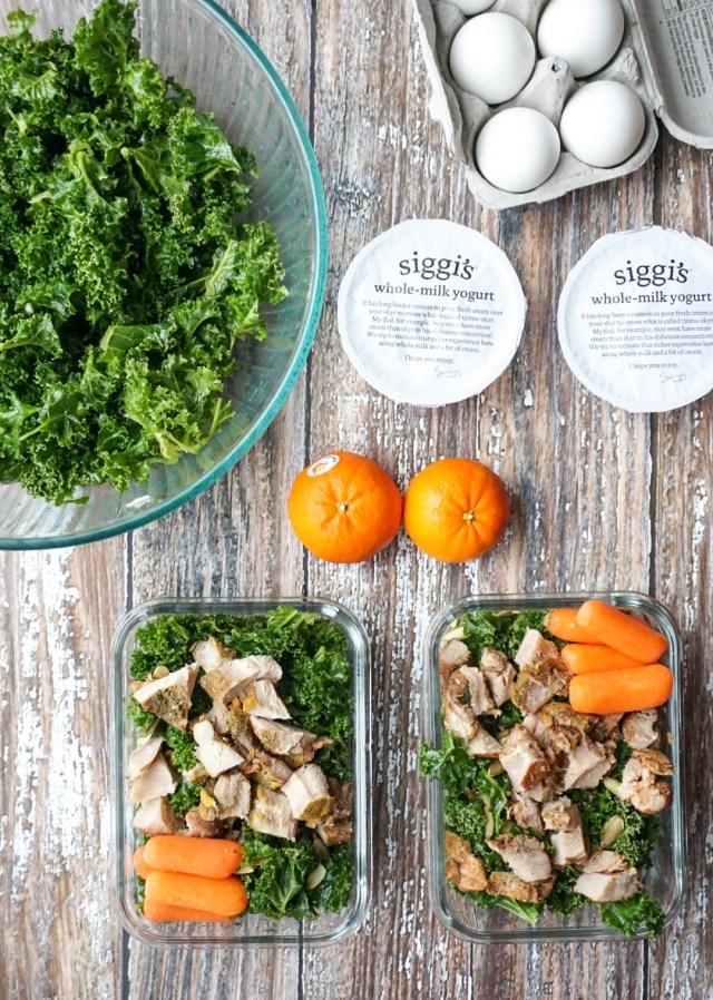 Massaged Kale Salad Meal Prep