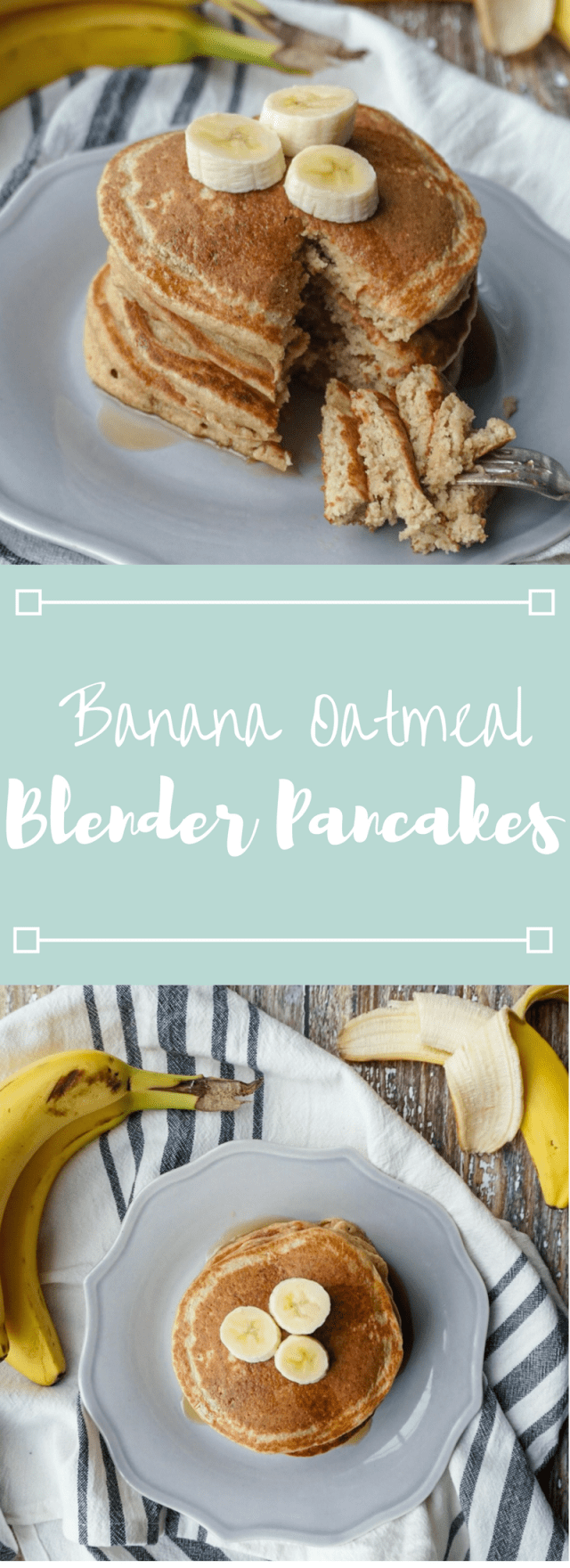 Healthy Banana Oatmeal Blender Pancakes
