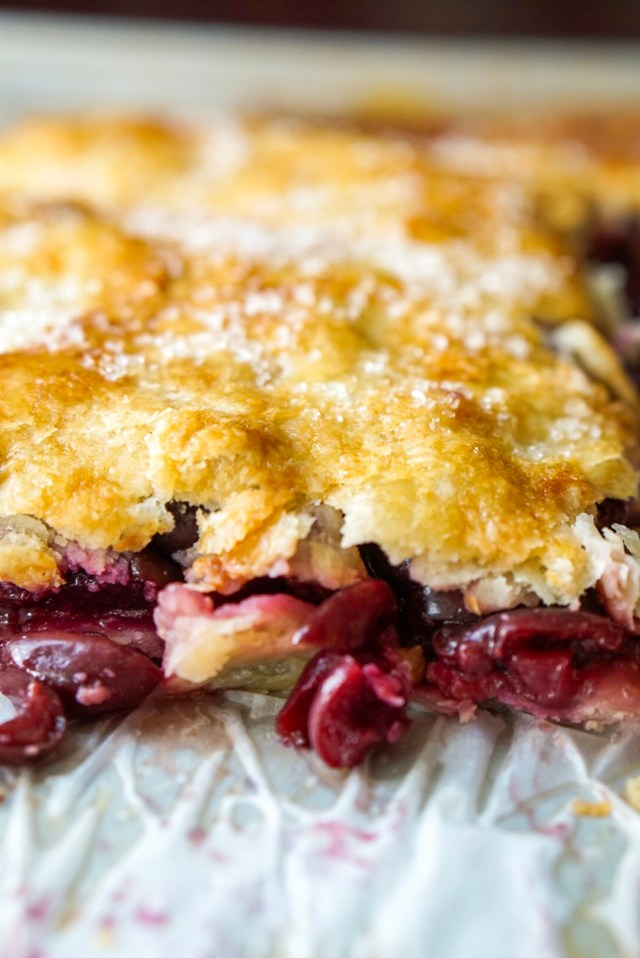 Homemade Cherry Slab Pie