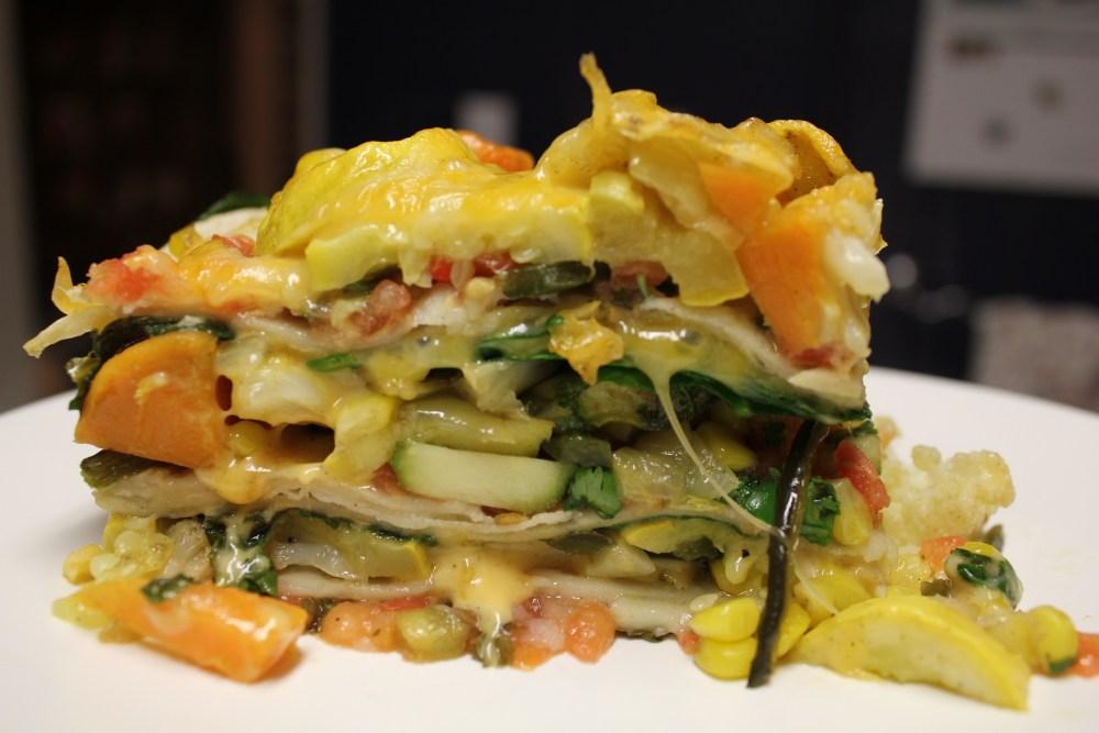 Stacked Roasted Vegetable Enchiladas (2/3)
