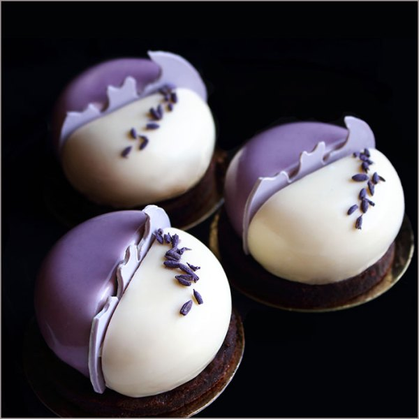 Lavender and White Chocolate Mousse Dessert - L'Ange Paix