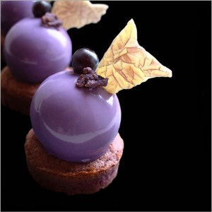 Red Wine Mousse and Financier Dessert with Citrus Heart - Zinfandel