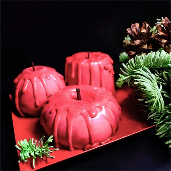 Cherry Compote Dessert with Orange Crémeux and Chocolate Sable ~ Holiday Candles Dessert