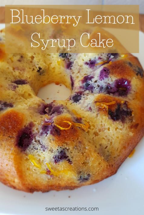 Blueberry lemon syrup cake