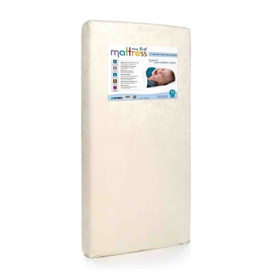 My First Breathable Memory Foam Crib Mattress