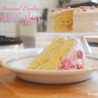 Pink Animal Cookie Layer Cake {for Siena Rae}