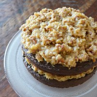 German Chocolate Cake {with Coconut Pecan Frosting}