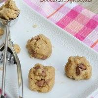 Chocolate Chip Cookie Dough Bites {egg-free}