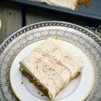 Pumpkin Spice Cake with Brown Sugar Marshmallow Buttercream Frosting