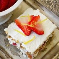 Strawberry Lemon Icebox Cake