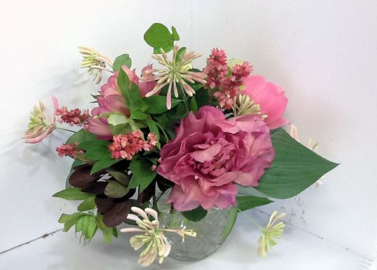 Centerpiece from Garden Flowers