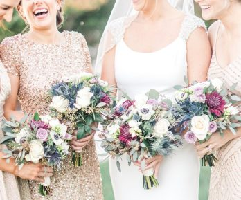 Lots of bright colors for an October wedding at the Hyatt, Photo by Manda Weaver Photography