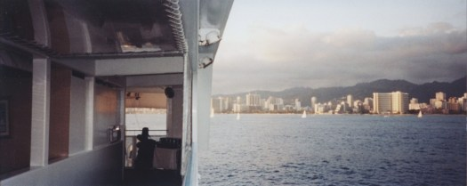 Dinner cruise off the coast of Waikiki Beach.