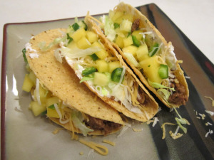 Taco Tuesday – Beef Tacos with Mango-Hot Pepper Salsa