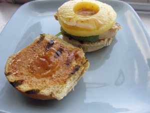 Sammich Saturday: Orange-Ginger Pineapple Chicken Sammich