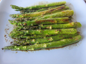 Baked Asparagus with Balsamic-Butter Sauce