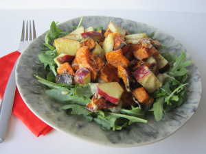 Roasted Sweet Potato Salad with Citrus-Curry Dressing