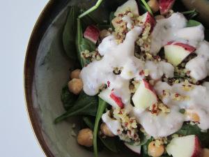 Middle Eastern Bulgur-Spinach Salad