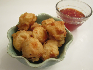 Shrimp Fritters with Spicy Honey Glaze