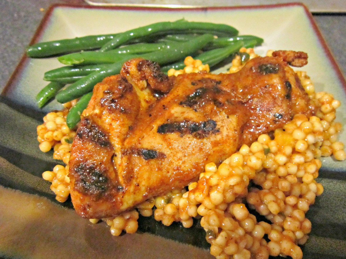 Moroccan Spiced Apricot Chicken with Couscous