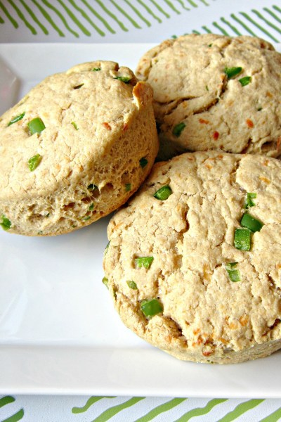 Whole Wheat Cheddar, Jalapeno and Chive Biscuits