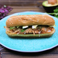 Slow Cooker Chicken Parmesan Sandwich