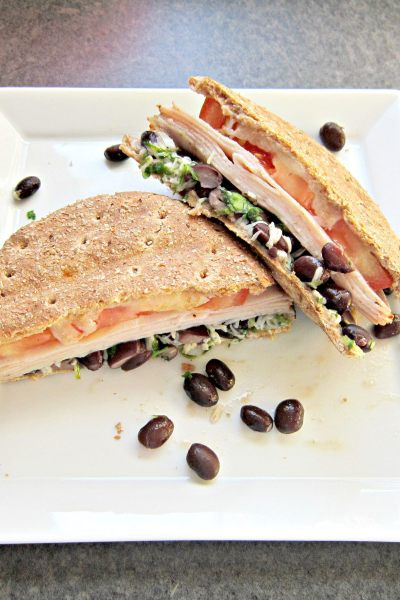 Sammich Saturday: Cilantro Lime Black Bean and Turkey Panini