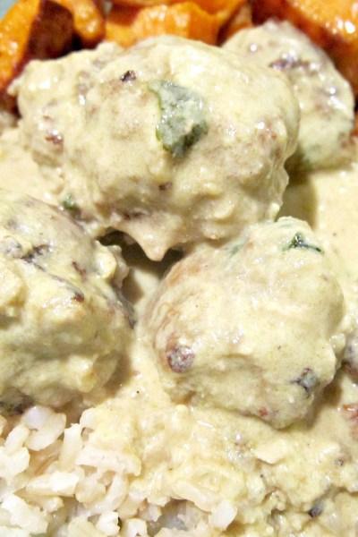 Thai Green Curry Turkey Meatballs
