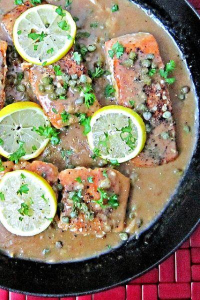 Lemony Salmon Piccata