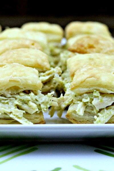 Pesto Chicken Puff Pastry Bites