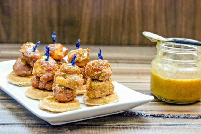 Mini Chicken and Waffles ~ Sweet Beginnings Blog