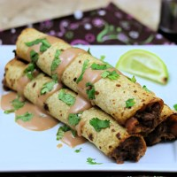 Baked BBQ Ranch Venison Taquitos