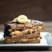 Peanut Butter, Bacon, & Banana Stuffed French Toast #BrunchWeek