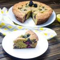 Blackberry Lemon Yogurt Cake