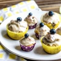 Glazed Blueberry Donut Muffins