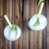Sparkling Basil Lemonade Cocktail