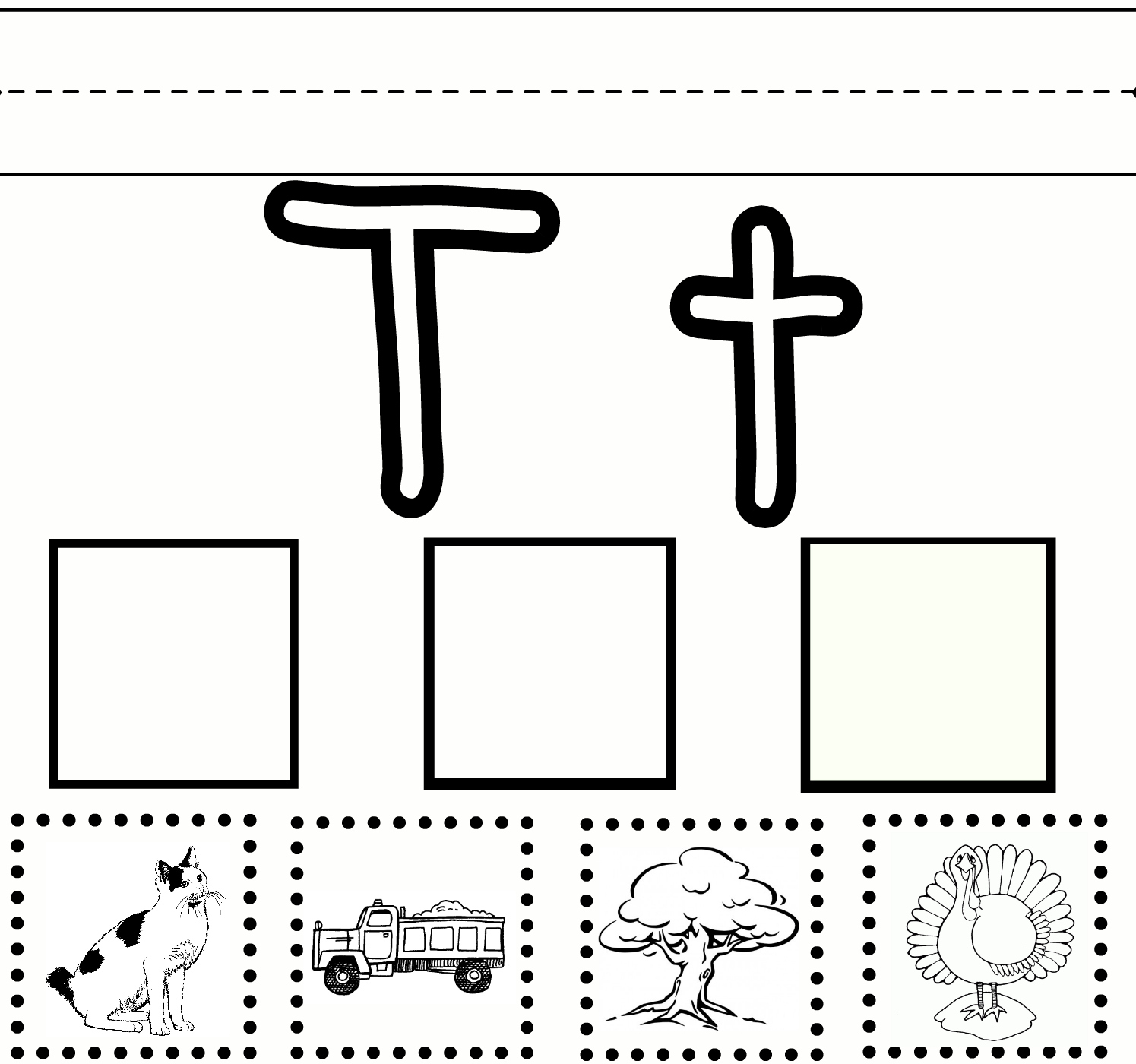 Preschool Learning Letter T Free Printable Worksheet