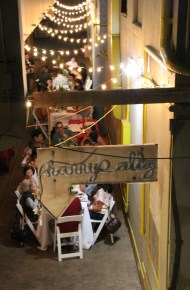 An aerial view of the Kau Wela dining area in Harry's Alley.