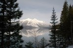Reflections, Winter Mountain in Lake McDonald