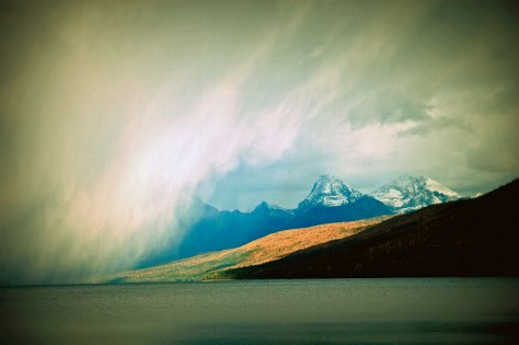 Lake McDonald, Storm Brewing with Effects copy