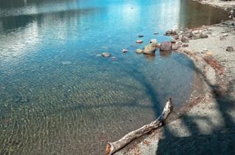 Lake, Driftwood, Rocks