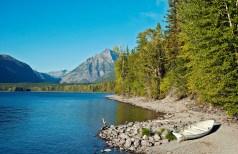 Lake McDonald, Dock, Rowboat, Mountain
