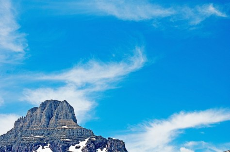 Logan Pass, Mountain, Blue Sky