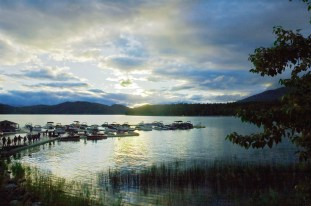 Sunset, Lodge at Whitefish Lake
