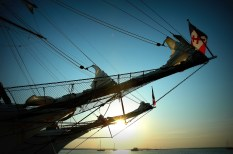 Ship Prow, Amelia Island, Sunset
