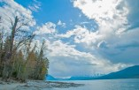 Lake McDonald, Storm Clouds, Shore, Spring