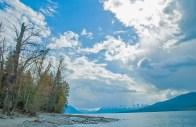 Lake McDonald, Storm Clouds, Shore, Spring