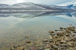 Lake McDonald, Reflections, Winter, February, Rocks, Water, Mountains as Smart Object-1
